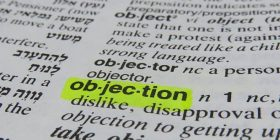 objection- dictionary definition